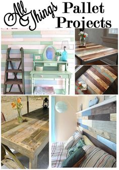 Pallet projects are all over Pinterest! Pallet wood ages beautifully and the possibilities are endless! Here are a few of my favorites!