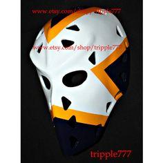 Hockey mask, Hockey goalie, NHL ice hockey, Roller Hockey, Hockey goalie mask, Hockey helmet St. Louis Rick Heinz mask HO85