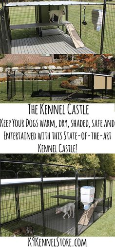 Wow! I didn't even know these exsisted. Amazing Kennel Castles that shade, protect, and keep dogs entertained. It has a dog house with vinyl door, a feeder and water-er. A fun ramp and plenty of room and shade. This would be the most amazing Father's Day gift! #K9Kennelstore