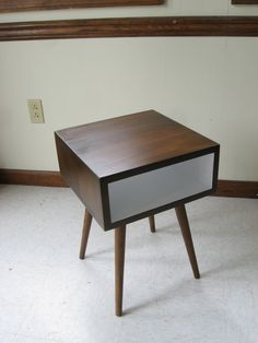 Starts at $280 Mid Century Inspired Night Stand | I want the weathered walnut finish!
