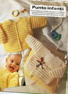 Patrones para realizar chaquetitas de bebés (Matilde) Baby Boy Knitting Patterns, Knitting For Kids, Knitting Stitches, Baby Patterns, Crochet Patterns, Giant Knit Blanket, Diy Crafts Knitting, Knitted Baby Cardigan, Crochet Baby Clothes