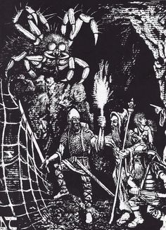 Erol Otus Artist | Dungeons and Dragons Giant Spider