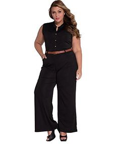ddad88d2e26a BingGe Womens Sexy Plunge V Neck Belted Wide Leg Jumpsuits Dress   You can  get more