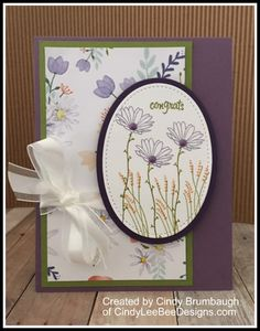August 9, 2017 I had my Daisy Delight Product Class yesterday. After we made a vase full of daisies and a card with half daisies, I wanted to show my super, fantastic classes how to use the other n…