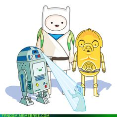 Adventure Time/ Star wars.