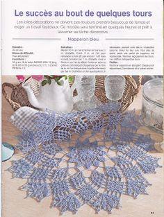 créations crochet: napperon bleu