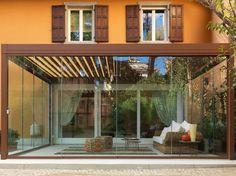 Giardino d'inverno con porte scorrevoli SLIDE GLASS by PRATIC F.lli ORIOLI