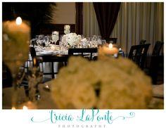 wedding reception details floral details centerpieces tricia laponte photography