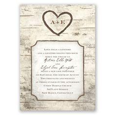 Heart Carving - Wedding Invitation