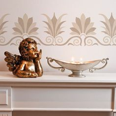 Accentuate your painted furniture or a whole room of walls with the traditional Grecian foliage fern design of the It's Greek to Me Classic Border Stencil. Deta