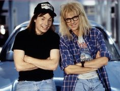 Pin for Later: Get Your Halloween On With These Brilliant '90s Costumes Wayne and Garth From Wayne's World