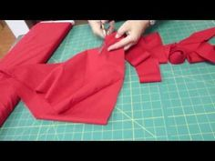 "TUTORIAL! How to make 200"" of continuous bias binding from 1/2 yard of fabric. No piecing. I've used this technique and it works. You really don't need the special ruler in the video, btw. :)"