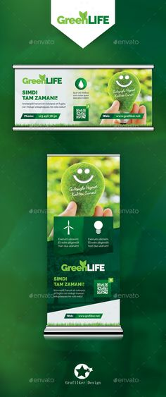 Green Energy Billboard & Roll-Up Templates PSD #design Download: http://graphicriver.net/item/green-energy-billboard-rollup-templates/14314038?ref=ksioks