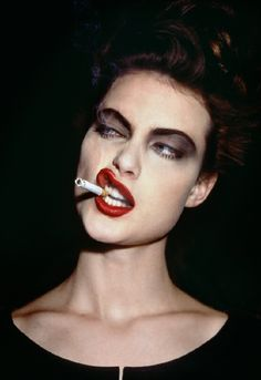 Be Fabulous (Or Else) - Shalom Harlow with a cigarette, Paris, 1995.