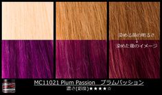 See how #PlumPassion comes out on different levels of blonde, here.