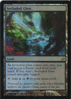 1 Secluded Glen Foil Land Lorwyn MTG Magic The Gathering (Cyber Monday)