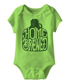 Take a look at this Key Lime 'Home Brewed' Bodysuit on zulily today!