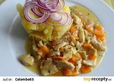 Soté z králičího a kuřecího masa Cantaloupe, Meat, Chicken, Fruit, Food, Essen, Meals, Yemek, Eten