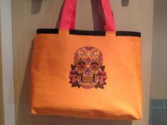 Skull Bag - Large Beach Bag with Sparkly Sugar Skull £35
