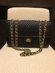 0a89723fb996 Authentic Bally Vintage Double Flap Quilted Chain Bag