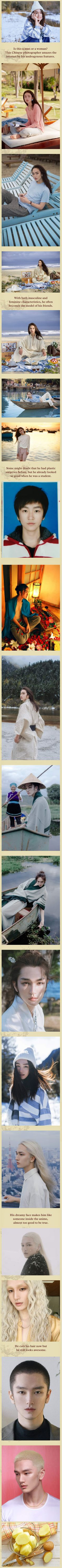 This Chinese Androgynous Man Is Like Someone Inside The Anime