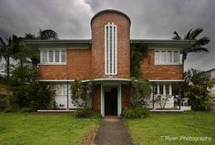 Art Deco Home, New Farm, Brisbane Art Deco Home, Art Deco Era, Streamline Moderne, Art Deco Buildings, Art Deco Furniture, Art Deco Design, Art Deco Fashion, Modern Architecture, Interior And Exterior