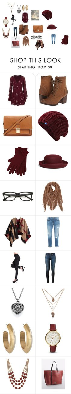 """""""My Weekend Fun Look"""" by emily-wright-iv on Polyvore featuring Free People, Madden Girl, Forever 21, Keds, M&Co, Brooks Brothers, Burberry, Frame Denim, AG Adriano Goldschmied and House of Harlow 1960"""