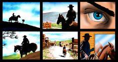 7 Up storyboard. Western Theme, Storyboard, Storytelling, Westerns, Drawings, Illustration, Art, Art Background, Kunst