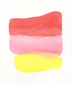 simple stack large original watercolor by malissasplace on Etsy, $300.00