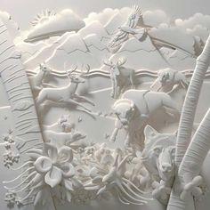 wildlife ~ Paper sculptures by Calvin Nicholls