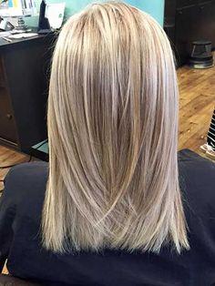 21. Blonde Medium Length Hairstyle