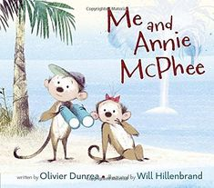"""Me and Annie McPhee by Olivier Dunrea. In this cumulative rhyme, a tiny island in the middle of the sea """"just big enough for me and Annie McPhee,"""" rapidly becomes very crowded with increasingly larger groups of animals. Toddler Books, Childrens Books, New Books, Good Books, How To Wear A Wig, Counting Books, Early Literacy, Chapter Books, Toddler Preschool"""