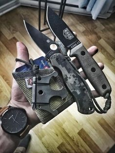 ESEE Knives ESEE-3MIL-P Military Plain Black Edge Fixed Knife Blade - Everyday Carry Gear