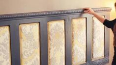 How to Upcycle a Wooden Door Into a Floating Headboard