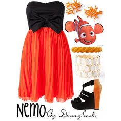 """""""Nemo"""" by disneylooks on Polyvore. Love the dress and shoes!"""