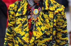 Mary Katrantzou jacket #PFW http://www.vogue.com/fashion/street-style/article/paris-fashion-week-fall-2012-street-style/#/gallery/paris-fall-2012-street-style/16