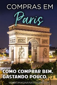 Compras em Paris: dicas para comprar bem e barato na Cidade Luz Scheduled trip to Paris? Want to know what is worth buying there? In this post you get a smart list to buy well - spend Europe Travel Tips, Travel Advice, Travel Destinations, Travel Quotes, Paris Nice, Beautiful Paris, Eurotrip, Europa Tour, Places To Go