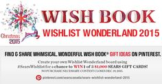 Create your own Wishlist Wonderland board using #SearsWishlist for a chance to win 1 of 3 $1,000 Sears Gift Cards! Experimental Psychology, Thing 1, Christmas 2015, Book Gifts, Wish, Create Your Own, Boards, Gift Cards, Wonderland