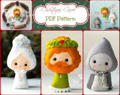 Christmas Carol. Ghost of Chrismas Present, Past and Future (PDF Pattern)