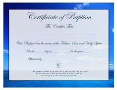 Free printable godparent certificates printable for Free water baptism certificate template