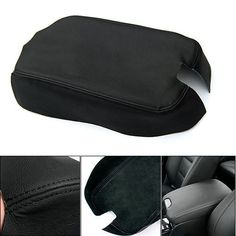 #Center Console Lid Armrest Cover Black Real Leather for Honda Accord 2008-2012