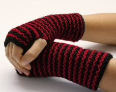"Striped Wristers - these are fun and easy to make. They look so cute too! I love to make them for ""my girls""."