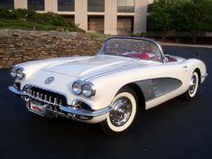 1959 Corvette Convertible - Snowcrest White with Red Interior