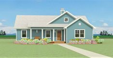 Open 3 Bedroom with Farmhouse Charm - 28920JJ | Architectural Designs - House Plans