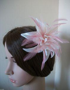 PINK / CREAM HAIR FASCINATOR WEDDINGS / PROMS / RACES/ LADIES DAY