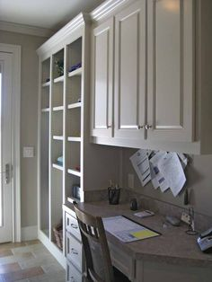 This is good, but no home office desk especially near a kitchen or mud room is EVER this neat!  Those adjustable cubbies are nice too!