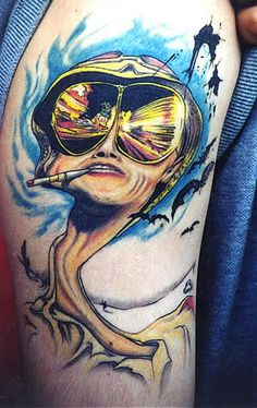 Art tattoo - Hunter S Thompson, Fear and Loathing in Las Vegas