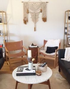 An original macrame wall hanging by Himo Art. Bohemian elements can fit in well with a huge range of decor styles.