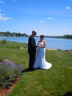 Bride, Annamae, and Groom, Scott, at their wedding at the Danversport Yacht Club, Danvers.