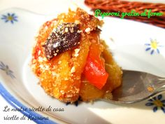 Peperoni al gratin cotti al forno, ricetta light